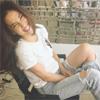 モデルの中村アン、ダメージジーンズを履いて「ワイルドだろう」