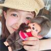 モデルの柴田紗希、モンチッチと写った写真が可愛すぎる事に