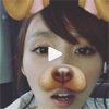 タレントの吉木りさ、流行の顔加工アプリで犬に変身動画