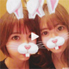 篠田麻里子と小嶋陽菜が顔加工アプリのウサギ動画で歓喜
